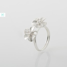 2 virágos Pilisi len ezüst gyűrű