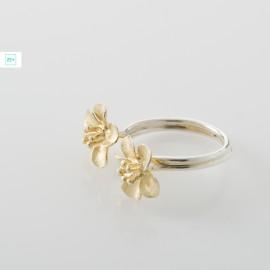 2 aranyvirágos Pilisi len ezüst gyűrű