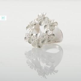 6 virágos Pilisi len ezüst gyűrű