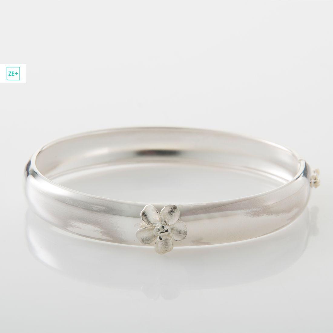 1 ezüst virágos pilisi len karkötő