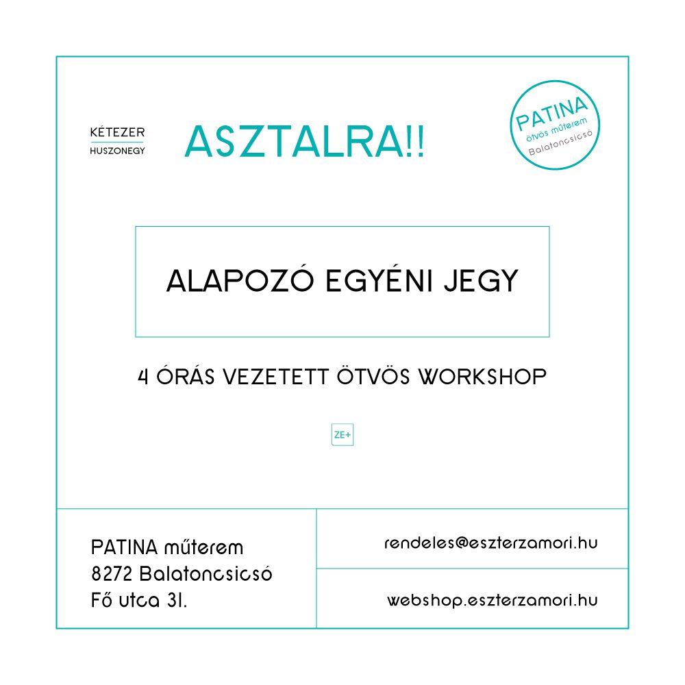 PATINA workshop, alapozó egyéni jegy